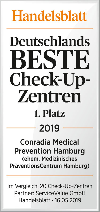 Handelsblatt-Deutschlands-Beste-Check-Up-Zentren-1-Platz-2019-Conradia-Medical-Prevention-Hamburg